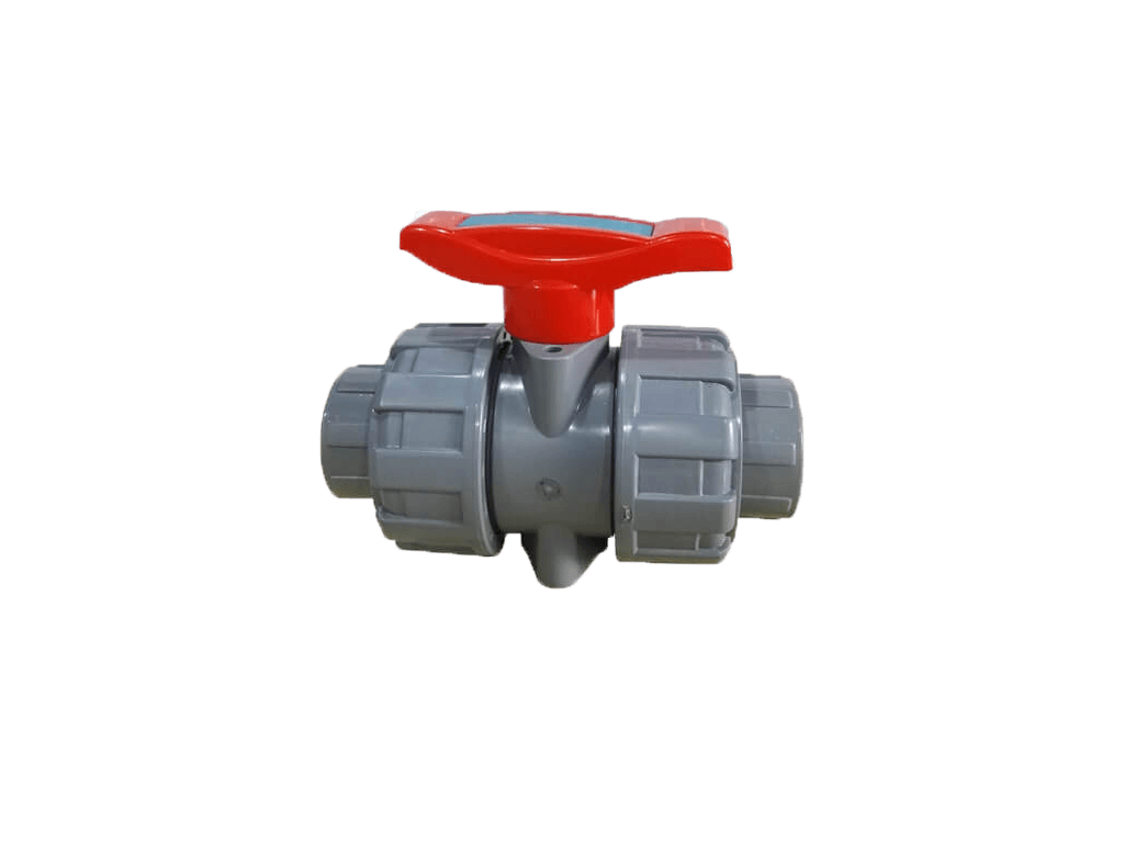 Industrial pipe with cpvc double union ball valve